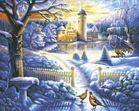 The frameless Pictures Painting By Numbers Digital Oil Painting On Canvas Unique Home Decoration 40x50cm winter Palace Da244