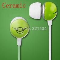 Ceramic 3.5mm Stereo Bass earphone headset headphone for Mobile iphone Xiaomi Samsung HTC iPod MP3 MP4 notebook desktop IV-1-Gre