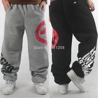 2014 Men Sport Baggy Pants Cotton Winter Warm Sweatpants Hip hop Hiphop Outdoor Joggers Trousers Brand Street Dance Pants FS3427