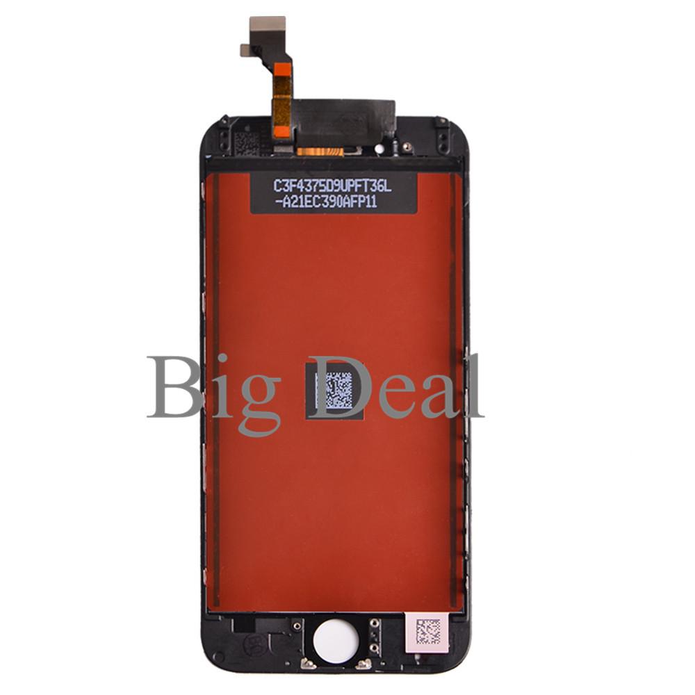 100% высокое качество тест перед отправкой черный цветной сенсорный экран планшета + жк-дисплей замена для iPhone 6 4.7 дюймов бесплатная доставка