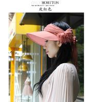 1 piece 2014  Hot Fashion Women Foldable Wide Large Brim Floppy Summer Beach Sun Straw Hat Cap 4 colour