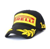 Adjustable Size Pirelli Pzero cap  Emboideried  Wheat Pattern Racing Cap