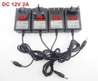 High Quality AC 100V-240V to DC 12V 2A US/EU/AU/UK plug Power Supply Adapter Charger