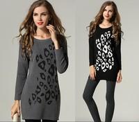 2015 women new fashion dress spring antumn Elegant long sleeve printing casual dress basic pencil dress 2color plus size M-5XL