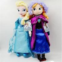 2pcs/set 40CM Frozen Plush Toys New Princess Elsa plush Anna Plush Doll Brinquedos Kids Dolls for Girls