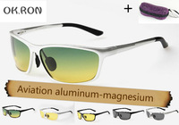 sunglasses day and night dimming night vision goggles polarized sunglasses men aluminum-magnesium alloy Driving cycling glasses