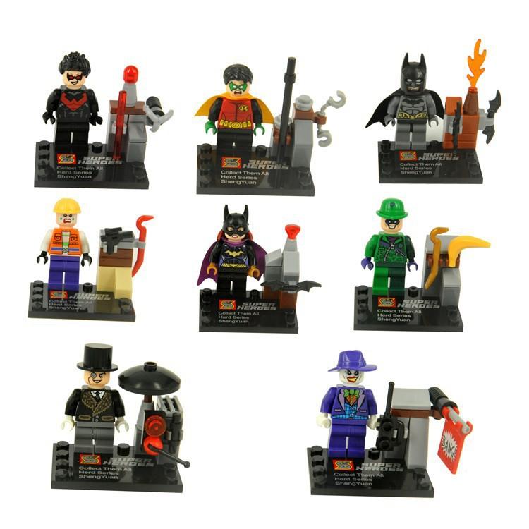 DC Batman Dark Knight Figures 8pcs/lot Super Hero SY171 Building Blocks(China (Mainland))