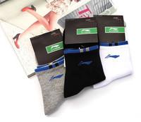 19 Colors! Lining Men's Athletic Socks Male Adult Cotton Socks Breathable Meias Masculinas Li-ning Badminton Socks Li Ning L187