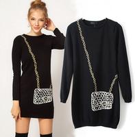 Elegant pullover sweater chic bag patterns midi sueter feminino free shipping new brand sweater womens female disfraces WS083