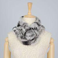 new arrival 100% natural rex rabbit fur scarf women girls christmas gift