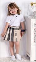 girl t shirts + skirt summer 2 pieces set