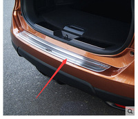 Car Styling Rear Bumper Inside Door Sill Plate Scuff For Nissan X-Trail 2014 -2016 Stainless steel
