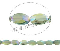 New Fashion Jewelry Imitation Element Crystal Beads Oval colorful plated 8*14mm Hole:Approx 1mm Sold Per Approx 21 Inch Strand