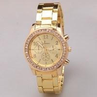 New arrival luxury wrist watch for women dress classic wristwatches gold stainless steel quartz watch Top brand Geneva relogio