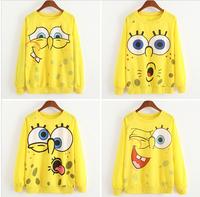 Top Sales New Women's Hooded Sweatshirts Hoodies Women Ladies fashion 8 Style SpongeBob Print Coat Spring autumn clothes
