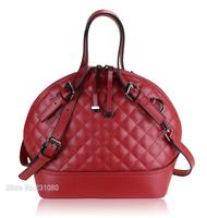 New Fashion Retro Woman Handbag Quilted Genuine Leather Diagonal Package High quality! ! Shell Handbags Shoulder bag