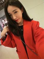 2013  Women Hot Sale Winter New Style Temperament Collar Loose Code Handsome Coat