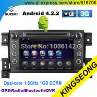 Android 4.2.2 Car Stereo Car DVD GPS Player For suzuki vitara 2005-2011 Car PC Bluetooth 3G WiFi Radio DVR Dual-Core CPU 1.6GHz