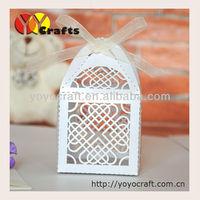 free shipping! nice white heart shape cheap wedding box for sale