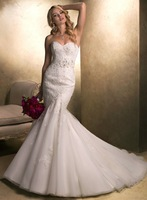 Fashionable New Designer Organza Lace Wedding Dresses Mermaid Bridal Gowns New Arrival