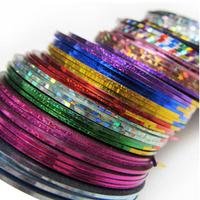 Free Fashion New Fashion Beauty 30pcs Mixed Colors Rolls Striping Tape Line Nail Art Tips Decoration Sticker CZ6026