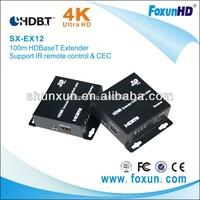 Ultra HD 4K2K 100m HDBaseT Extender support IR remote control