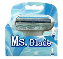 4 Pcs/set 3-Blade female Shaving Razor women razor blade shaver blades US Version for women in Original Package Free Shipping