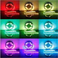 5M RGB DJ Strip lights 300 LED RGB + 24 IR Remote Lamp Bulb 300 LED SMD 5050 LED Strip Light DC 12V DC