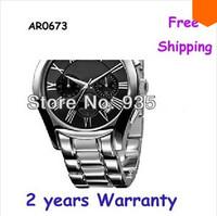 New Men's Silver Steel Chronograph Watch AR0673 0673