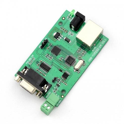 Q00194 JMT 1 Piece USR-TCP232-24 Converter Module Server RS232 RS485 serial to Ethernet TCP/IP RJ45 + FreePost(China (Mainland))