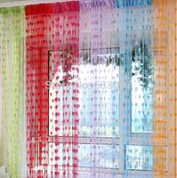 each piece size 100CM*200CM ,2 pieces a lot , Cute Heart Line Tassel Door Curtain Window Room Divider Curtain Line curtain
