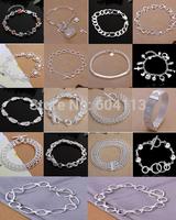 A43 // Big promotion popular Factory Price hot sale Bracelets Chain, wholesale fashion 925 jewelry silver plated Bangle Bracelet
