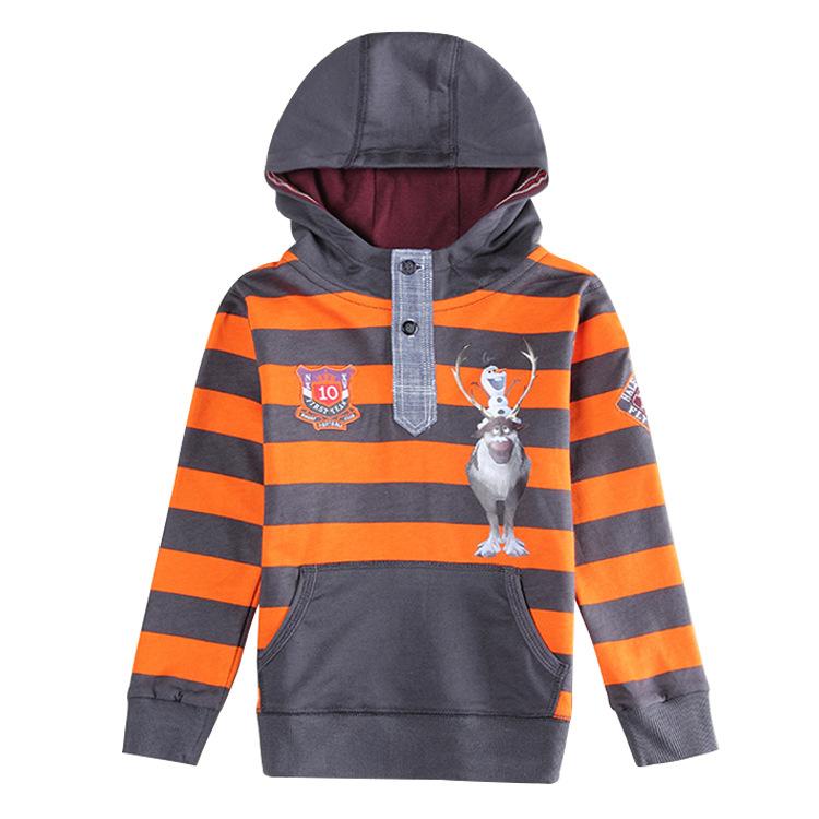 Sven & Olaf boys kids hoodies Striped children's wear all for children clothing accessories roupa infantil sweatshirt jacket(China (Mainland))