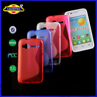 1000pcs/lot New for Alcatel OneTouch POP D1 TPU Gel Case Back Skin Cover Cell Phone Accessory   Laudtec