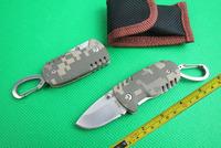 Free shipping New G10 Handle MINI Pocket Folding Knife Tactical hunting camping knife knives Christmas Gift TFF146