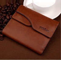 High quality Pu Leather Wallet fashion business short wallet detachable Card wallet Brand Wallet Free Shipping