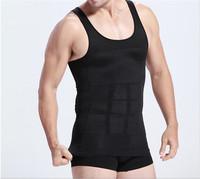 1pc/lot Mens Slimming Body Shaper Bellly Buster Underwear Fatty Underwear Vest Shirt Corset Compression white Black AY870648
