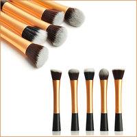 5Pcs/Set Gold Professional Powder Blush Brush Facial Beauty Cosmetic Stipple Makeup Tools Make Up Brush Foundation Brush