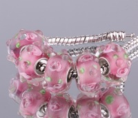5PCS 925 sterling silver DIY thread Murano Glass Beads Charms fit Europe pandora Bracelets necklaces  /ftjaokqa ggvaoyca F032