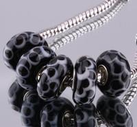 5PCS 925 sterling silver DIY thread Murano Glass Beads Charms fit Europe pandora Bracelets necklaces  /gmdapdka gzpapqwa F382