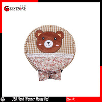 Free shipping Cute Cartoon USB Hand Warmer mouse pad warm mouse pad heating in winter heating