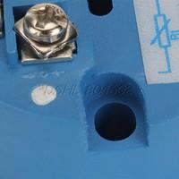 Plastic PT100 Temperature Transmitter Sensor 0-100C 4-20mA Output Blue