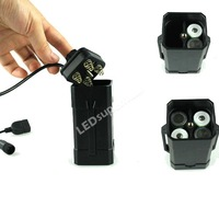 USB and DC Double Interface Battery Box for Bicycle Light, Redefine the battery pack