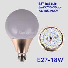 Focos de la luz de bulbo del LED llevaron luces E27 3W 5W 7W 9W 11W 14w 18w 5730SMD blanco / caliente blanco frío AC220V 230V 240V A60 A70 A80 A95(China (Mainland))