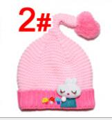Hot , Autumn and winter New Fashion hat long tail mushroom children knitting hat Beanies,E05