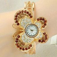 Fashion Watch Women girls Ladies Golden bangle rhinestone diamond watches Quartz Wrirstwatches Watch Relogio Feminino CX02