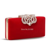 Fashion Woman Mini Handbags Clutch Female Austrian Crystal Diamond Hard Shell bag Evening Bags Chain Shoulder Messenger Bag