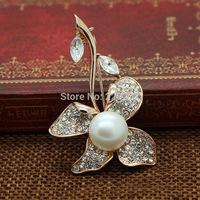 Flower Pearl brooch&Pearl pendants Dual Jewelry Fashion delicate beautiful Noble generous big pearl AAAA Mother&Grandama gifts