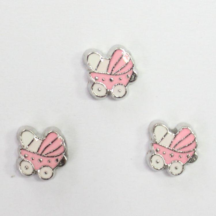pink baby car charms-2,locket charms for living lockets(China (Mainland))