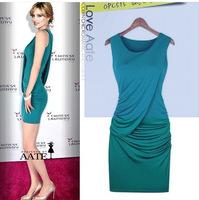 Summer New Hot Sale Women Elegant Sexy Sleeveless Slim dress 3010 AN